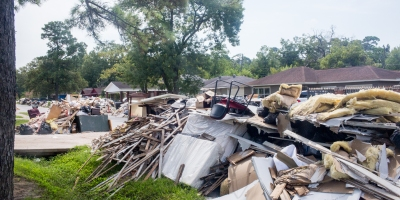 Flooding Damage in the Lakewood area of Houston, TX. Photo: Revolution Messaging/Arun Chaudhary