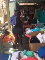 Setting up for clothing distribution